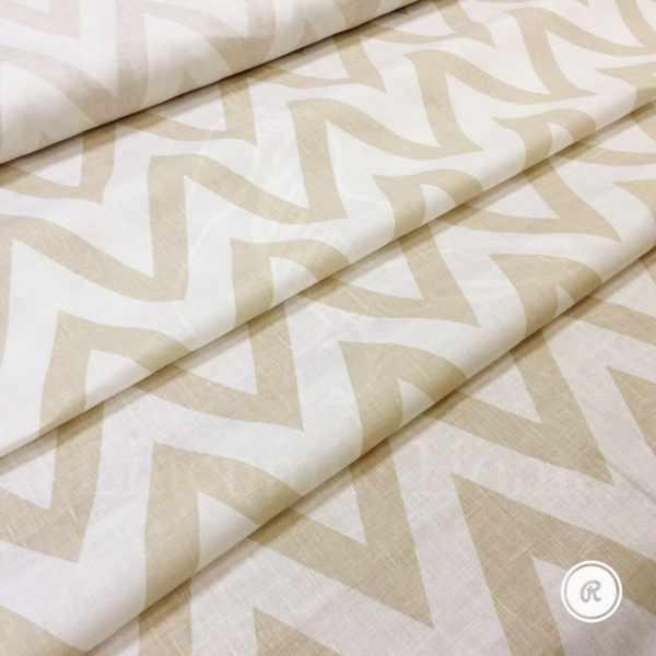 150 см. Льняная ткань для штор с рисунком зигзаг Egypt line