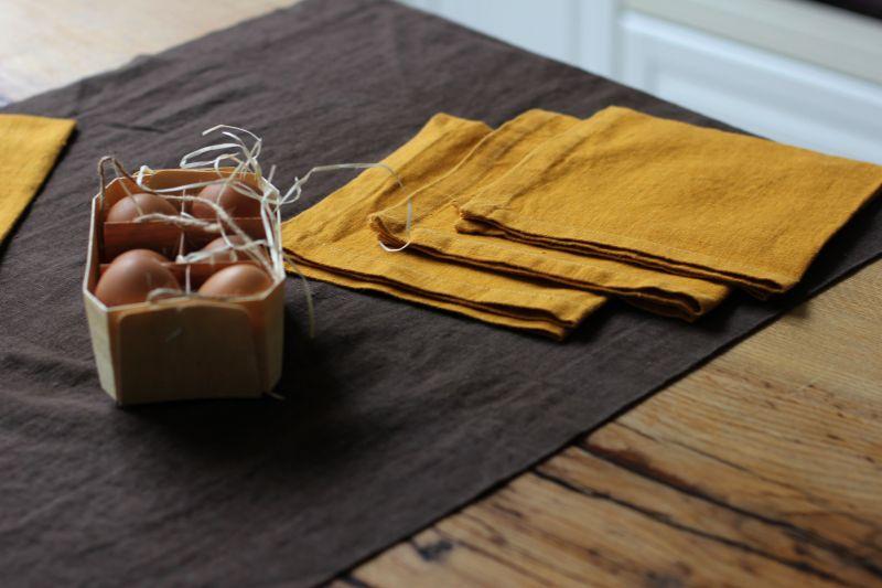 50х150 Набор 6 салфеток Amber и коричневая дорожка на стол