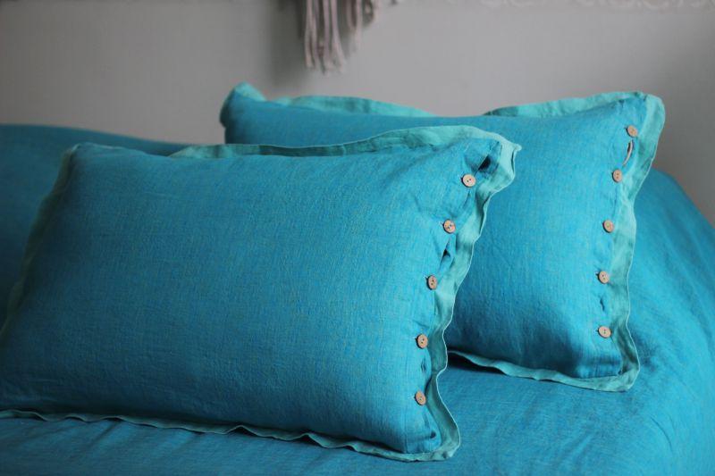 Семейное постельное бельё из льна Царь морей