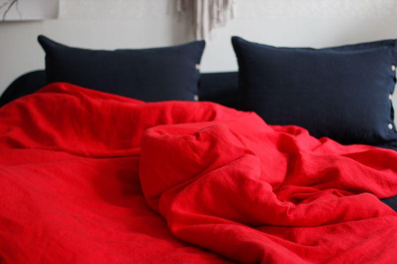 Льняное постельное белье Евро Купидон