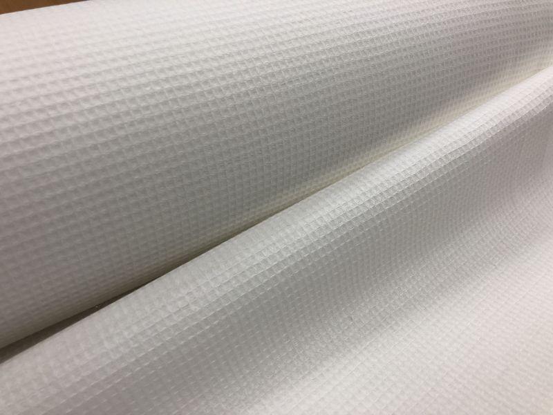 150 см. Ткань вафельное полотно льняное белое