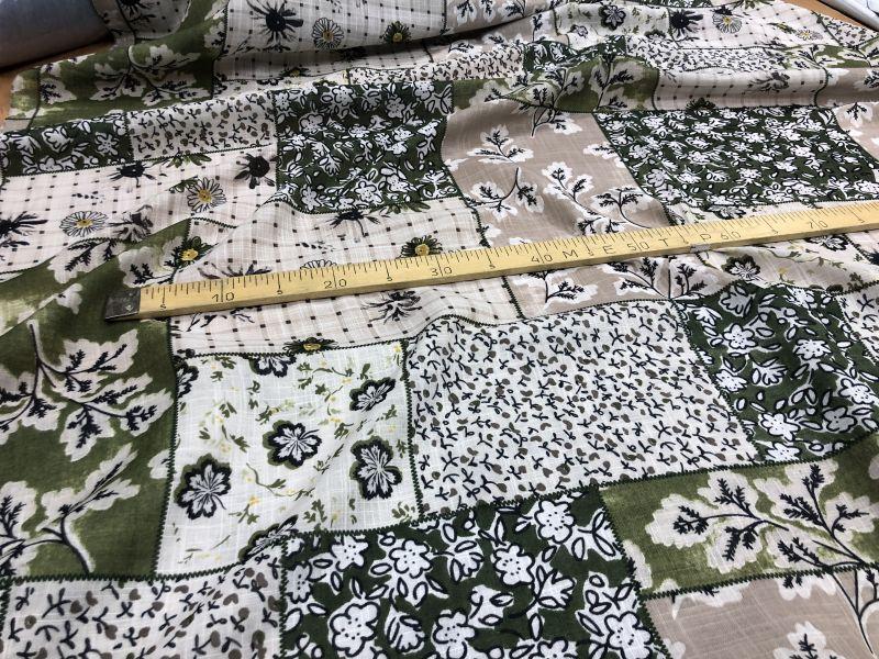 145 см. Ткань для штор под лен с рисунком леса