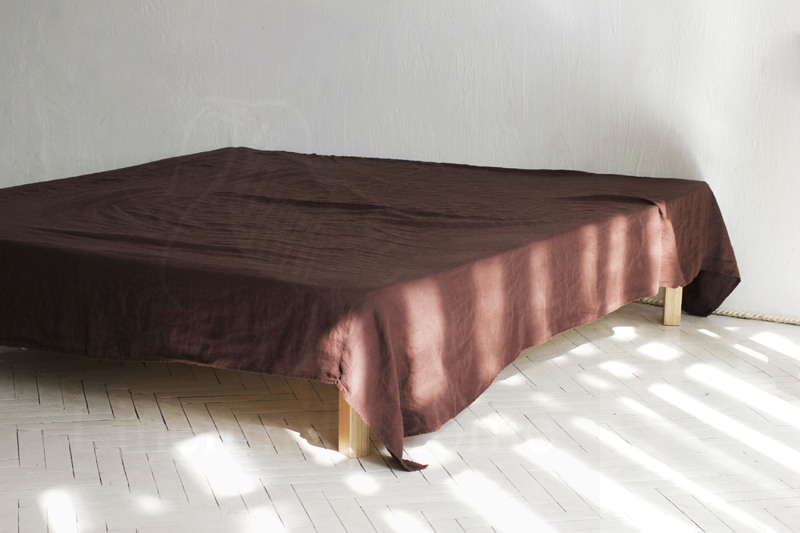 160х220 1.5 спальная мягкая льняная Чоко