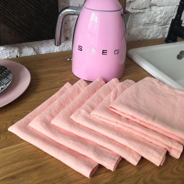 40х40 Салфетки розовый пастель