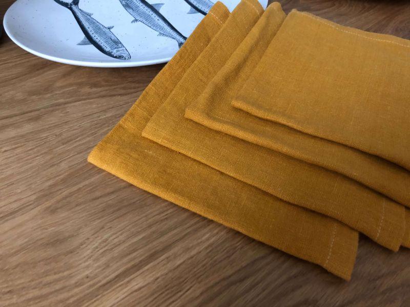 50х50 Салфетка из мягкого льна Amber