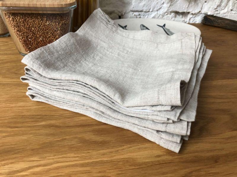 50х50 Льняная салфетка серая Soft Linen