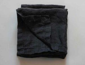 50х50 Мягкая салфетка из льна Dark Grey