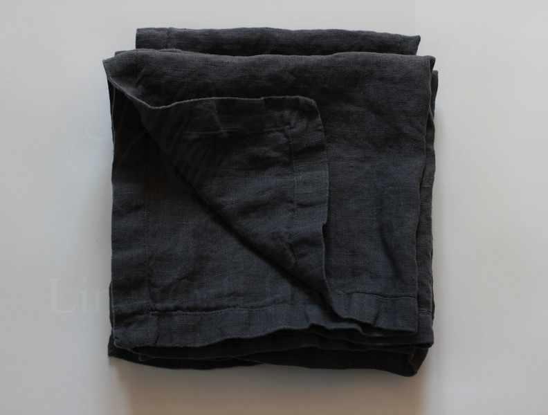 30х40 Льняная сервировочная салфетка Dark Grey