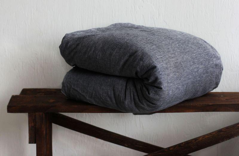 200х220 Пододеяльник Soft linen Графен