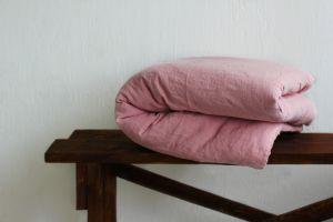 200х220 Розовый пододеяльник из мягкого льна
