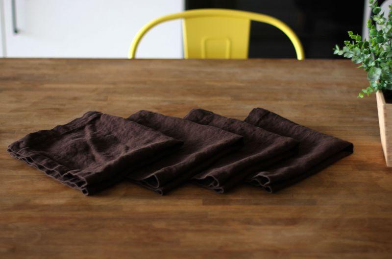30х50 Коричневая сервировочная салфетка Soft Linen
