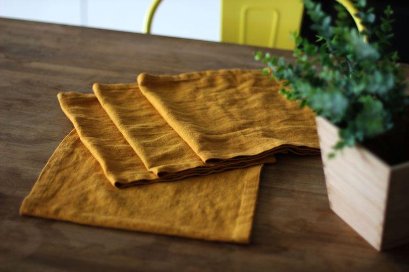 50х25 Льняная сервировочная салфетка Orange