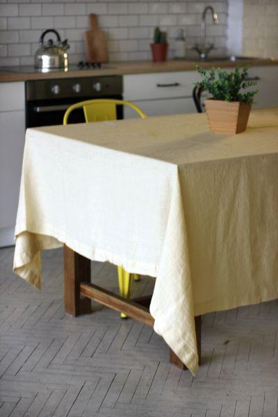 150х150 Квадратная песочная скатерть Soft linen