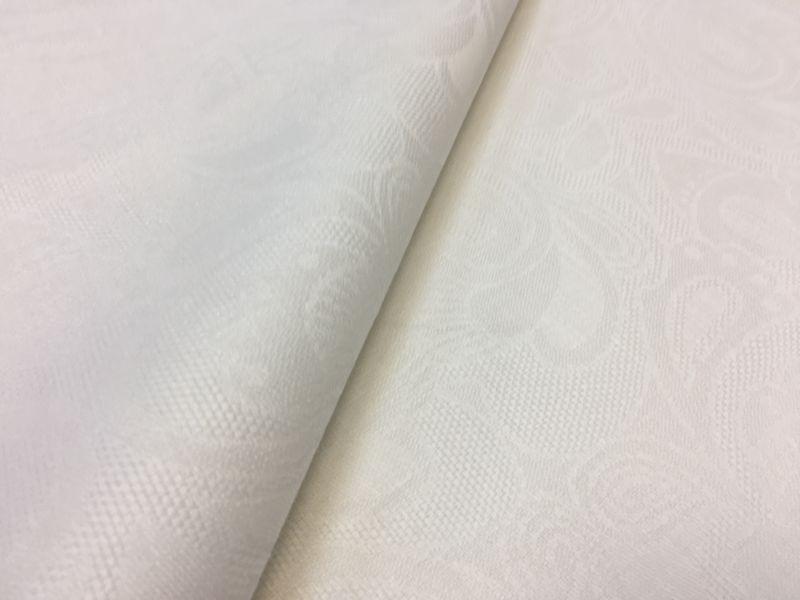 207 см. Белая жаккардовая ткань для скатерти Барбара