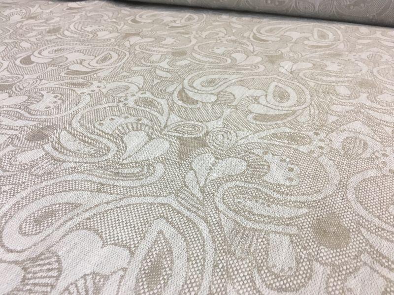 175 см. Льняная ткань с жаккардовым  рисунком БАРБАРА