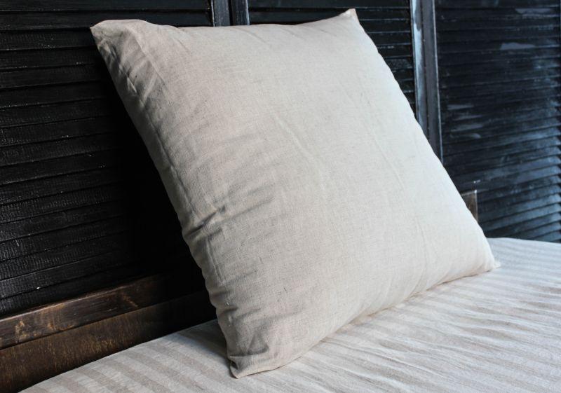 Подушка декоративная льняная 40х40