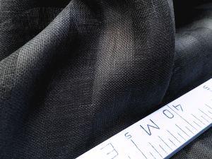 260 см. Чёрно-серая тюль в полоску