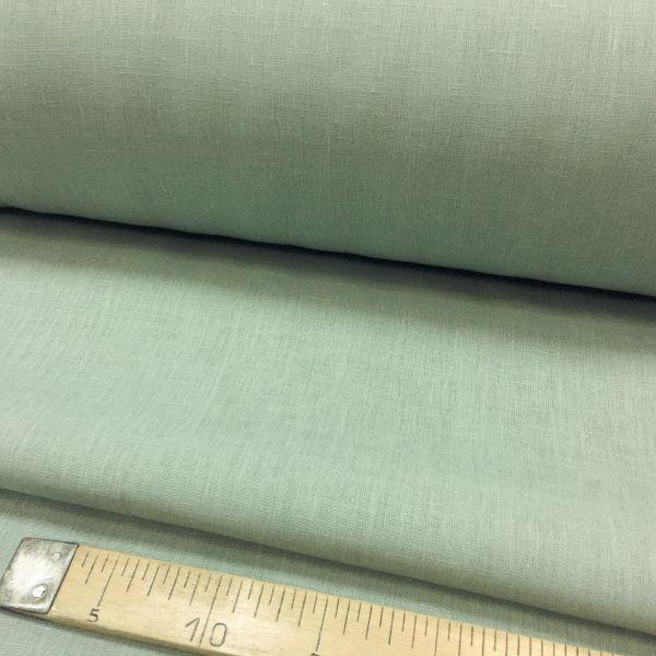 260 см. Широкая льняная ткань цвет Грязный голубой