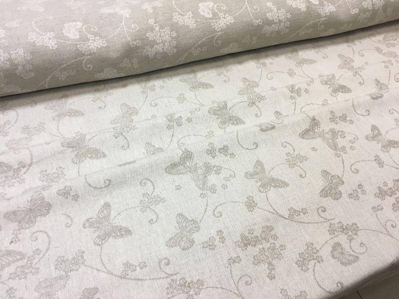 160 см. Жаккардовая ткань для скатерти Butterfly