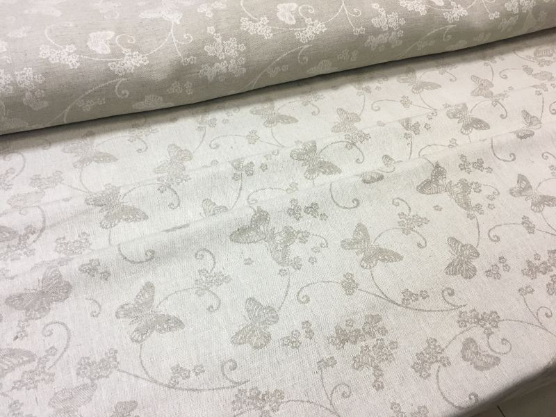 150 см. Жаккардовая ткань для скатерти Butterfly