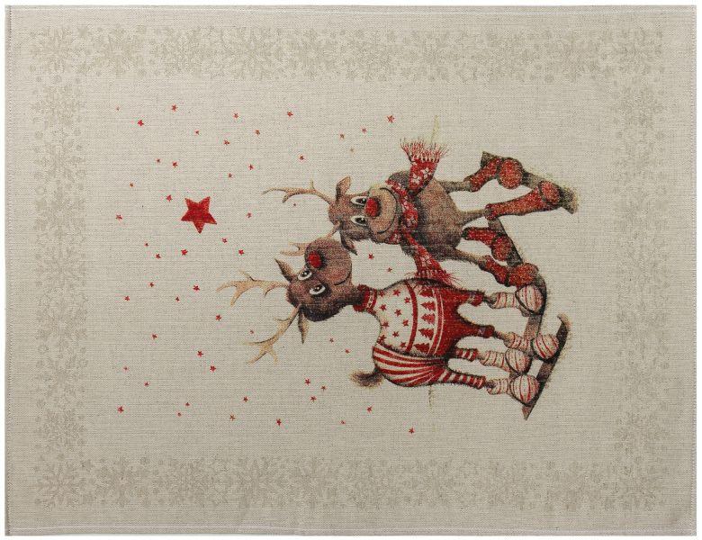 47х60 Рождественское полотенце Олень