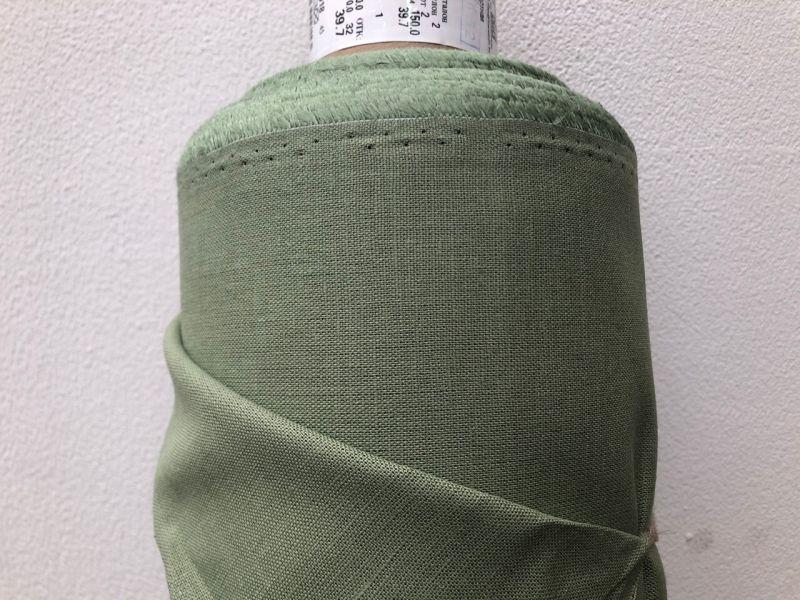 150 см. Оливковая льняная ткань для штор