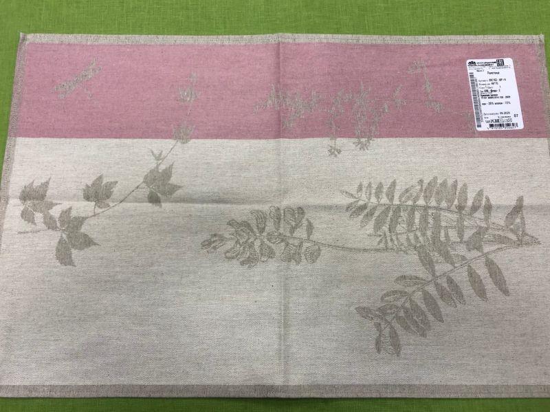 46х70 Кухонное полотенце Флора pink