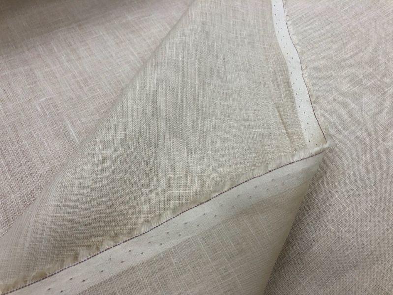 150 см. Ткань льняной батист цвета Слоновой кости