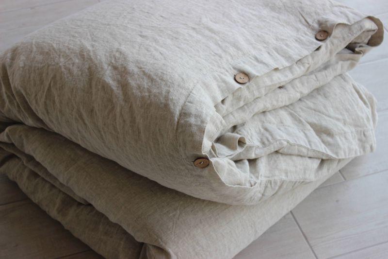 220х160 1.5 спальный льняной серый пододеяльник