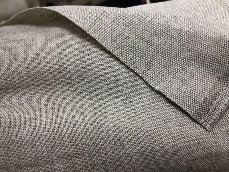 150 см. Плотная льняная ткань для штор
