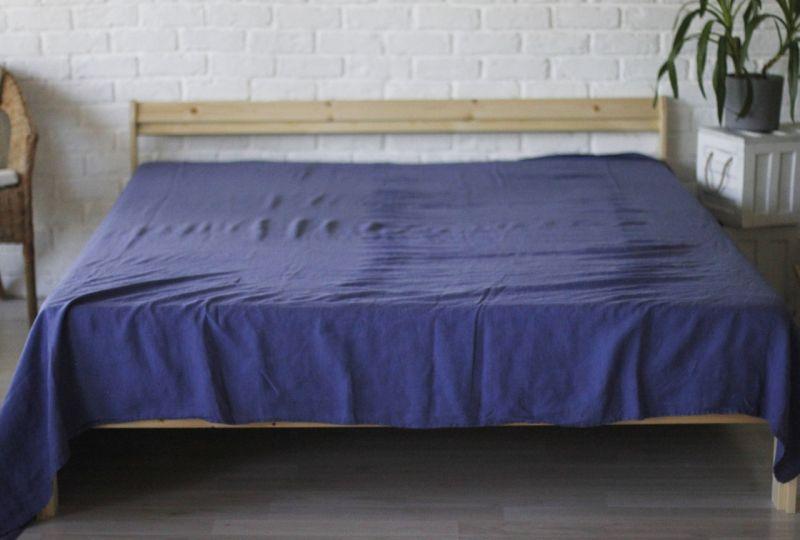 230х240 Евро-простынь синего цвета Amethyst