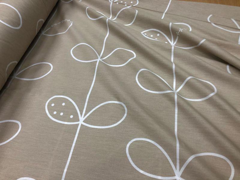 235 см. Ткань для постельного белья сатин Light sprout