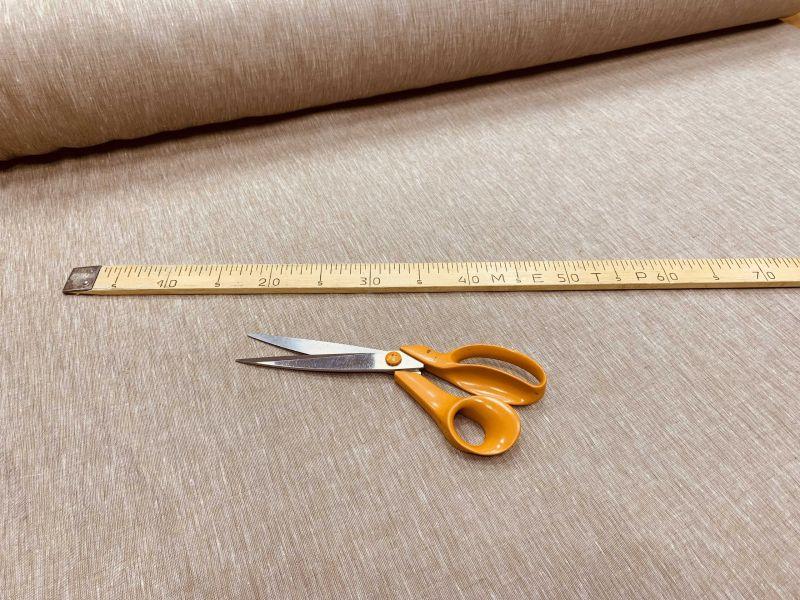 260 см. Широкая льняная ткань меланж коричневый 100% лен