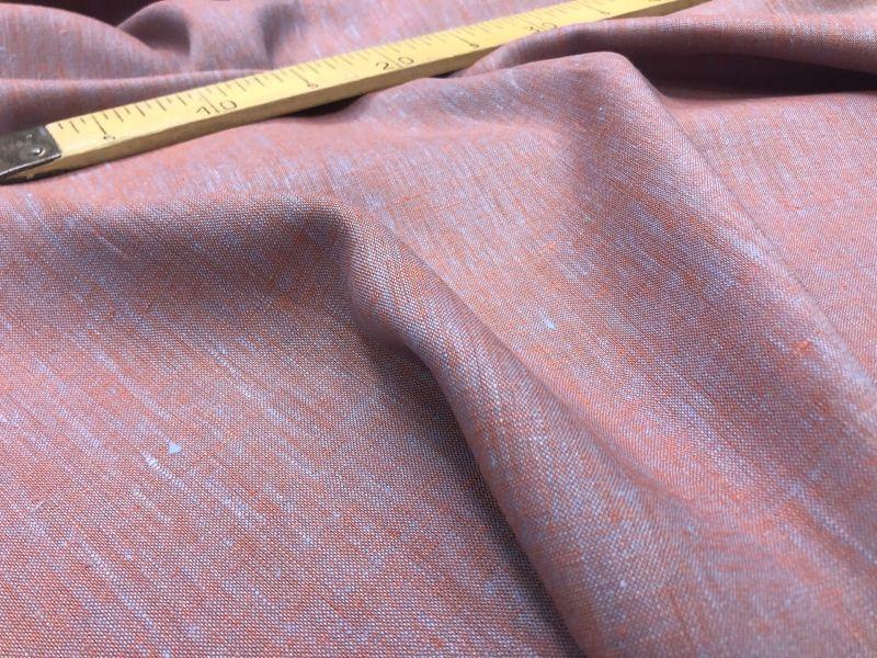 150 см. Ткань меланж Оранжево-голубой