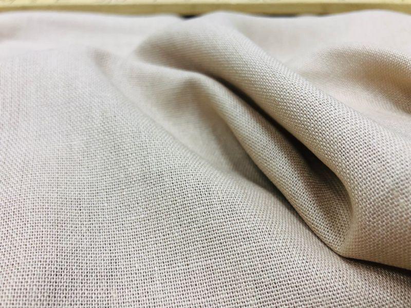 138 см. Лен с вискозой ткань для одежды Бежевая