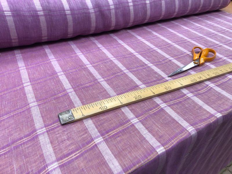 165 см. Тюль в полоску plum