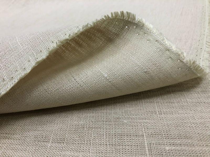260 см. Широкая льняная ткань для штор Бежевая