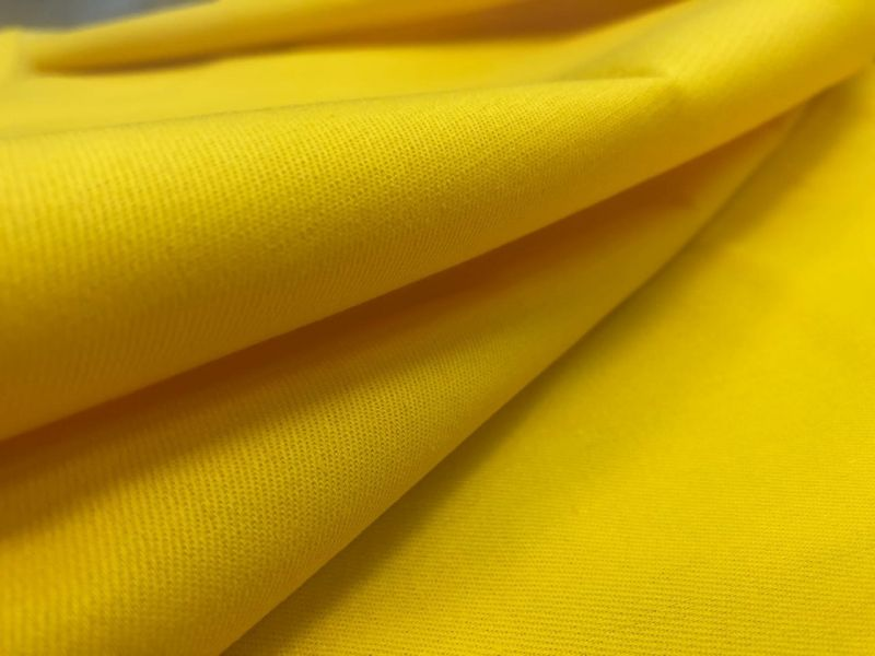 155 см. Ткань хлопковая саржа Ярко-Жёлтая