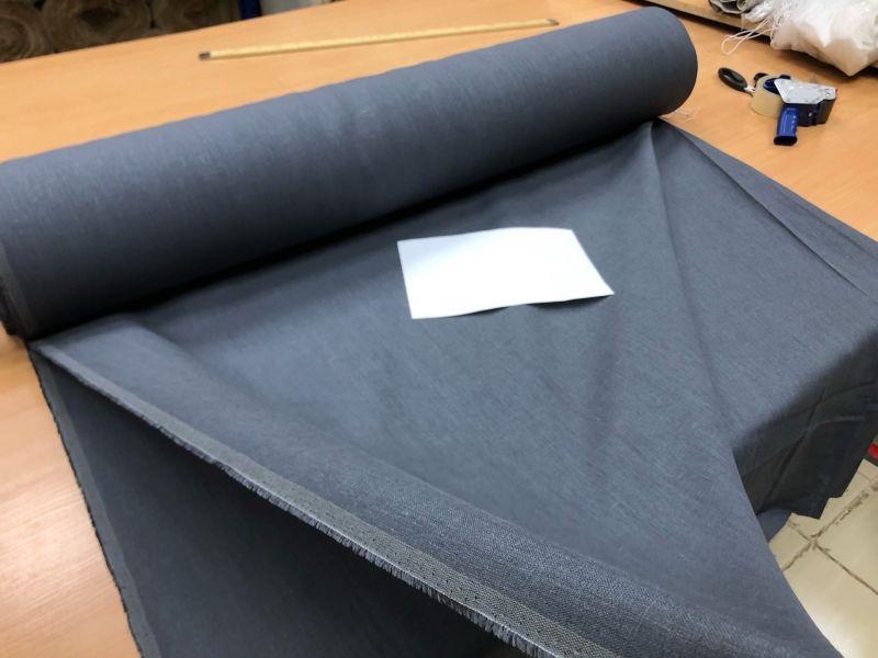 260 см. Широкая льняная ткань цвет Темно-серый