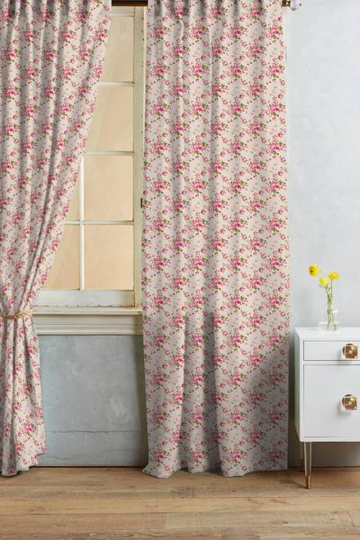 145х180 Короткая штора на кухню Розочки