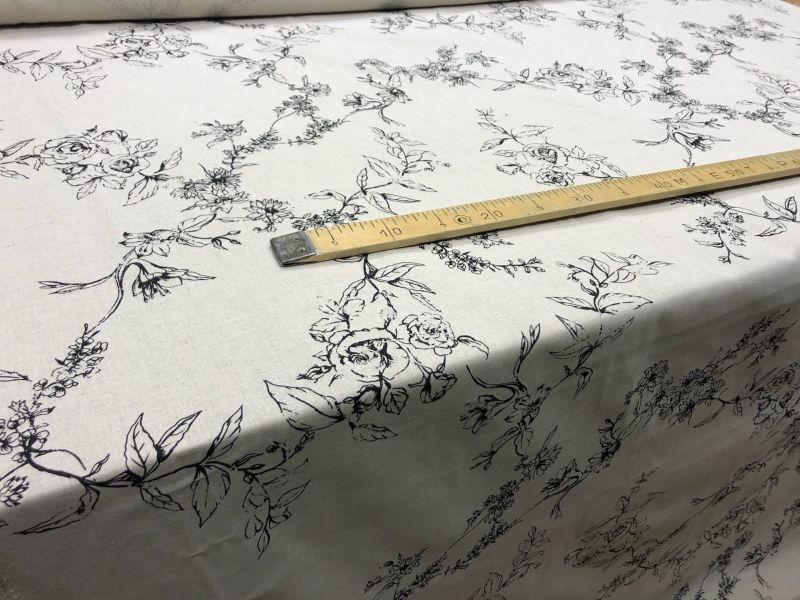 150 см. Легкая ткань для штор Swedish rose