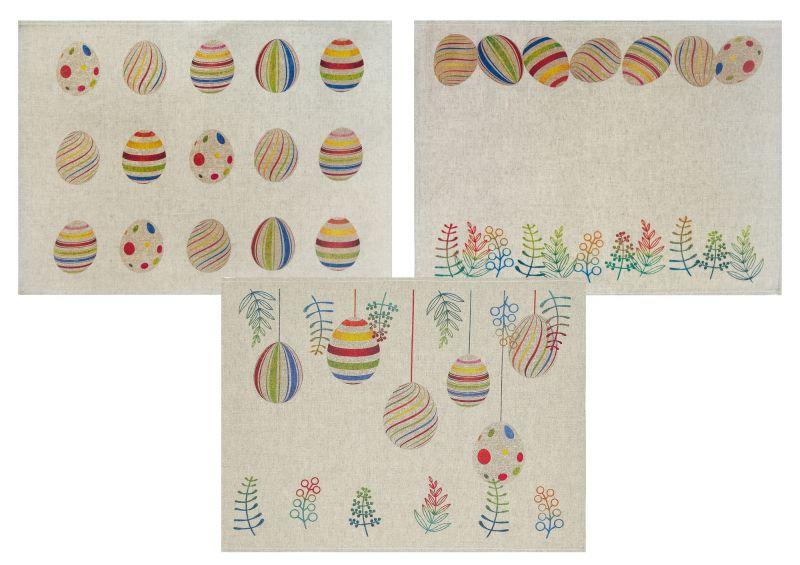Набор кухонных полотенец Радужные яйца 3 шт