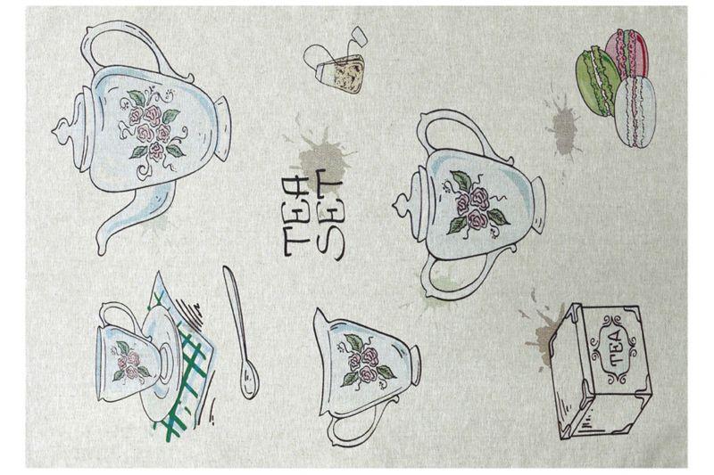 50х70 Кухонное полотенце Время чая