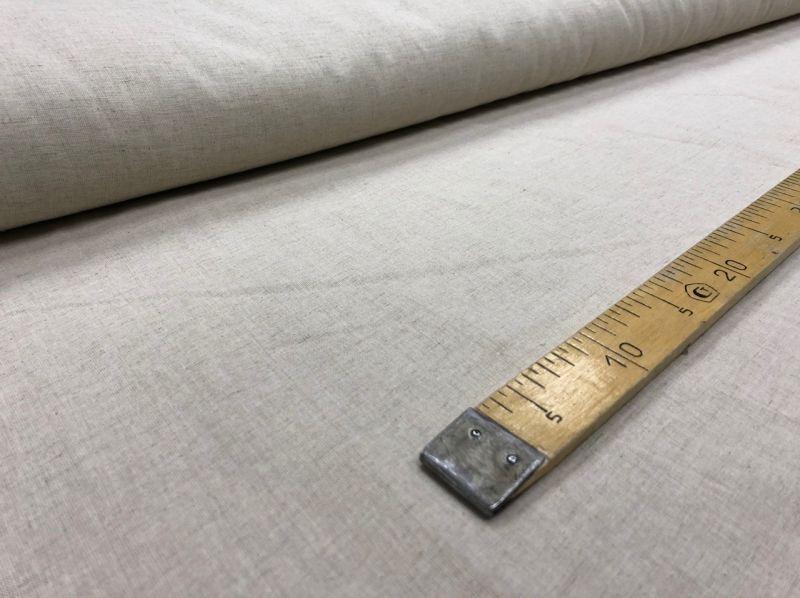 150 см. Простая ткань из льна и хлопка однотонная
