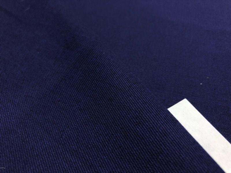 160 см. Ткань хлопковая саржа Темно-синяя