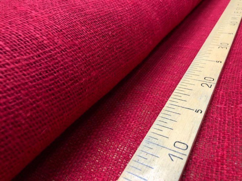 100 см. Редкая Мешковина красного цвета 210 г/м