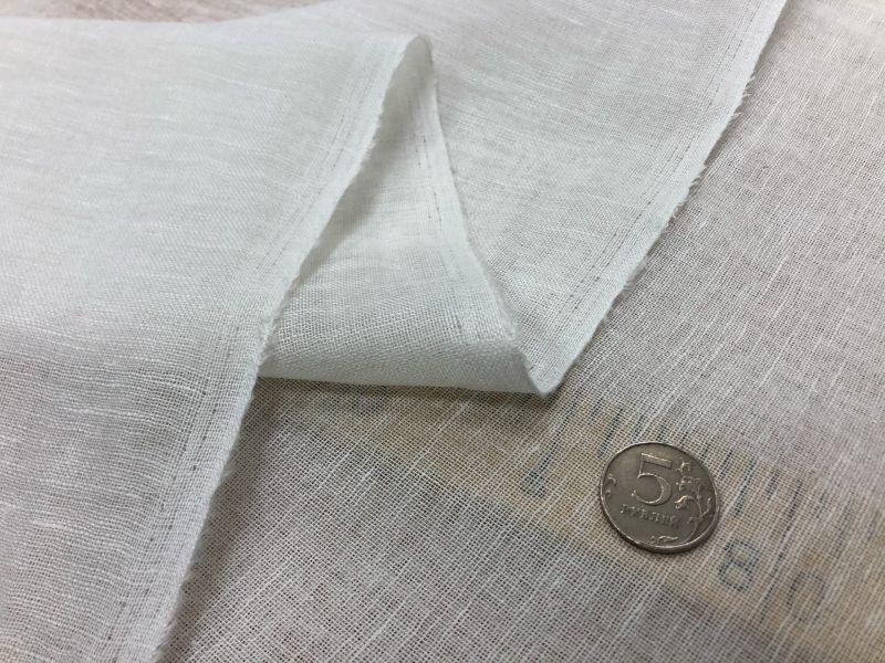 150 см. Белая льняная вуаль (Лён/Хлопок)