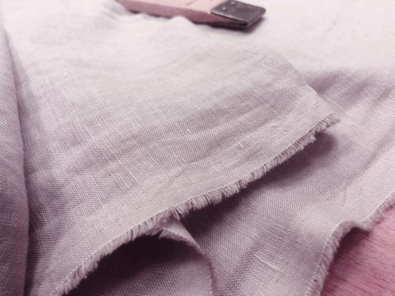 145 см. Лен с вискозой сорочечный Розовый