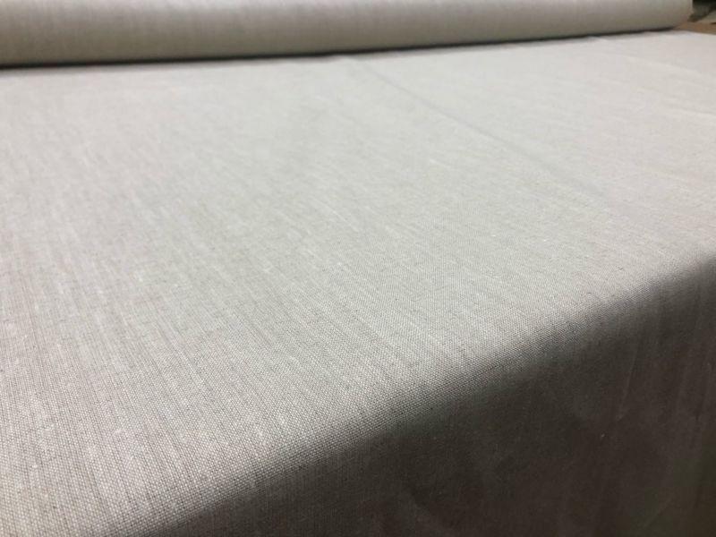 150 см. Плотный лен с вискозой ткань Натурального цвета