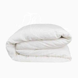 Пододеяльник белый Natural linen 1.5 спальный 148х220